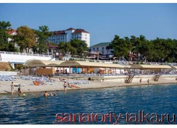 Санаторий «Красная Талка», собственный пляж