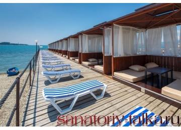 Санаторий «Красная Талка», бунгало на пляже